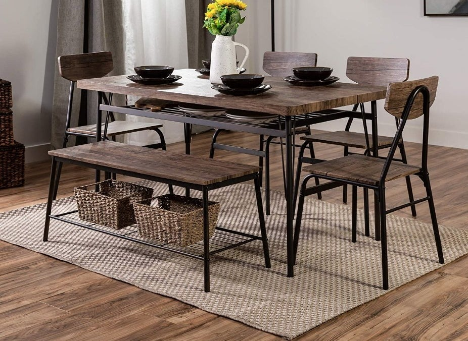 6 piece wooden dining set