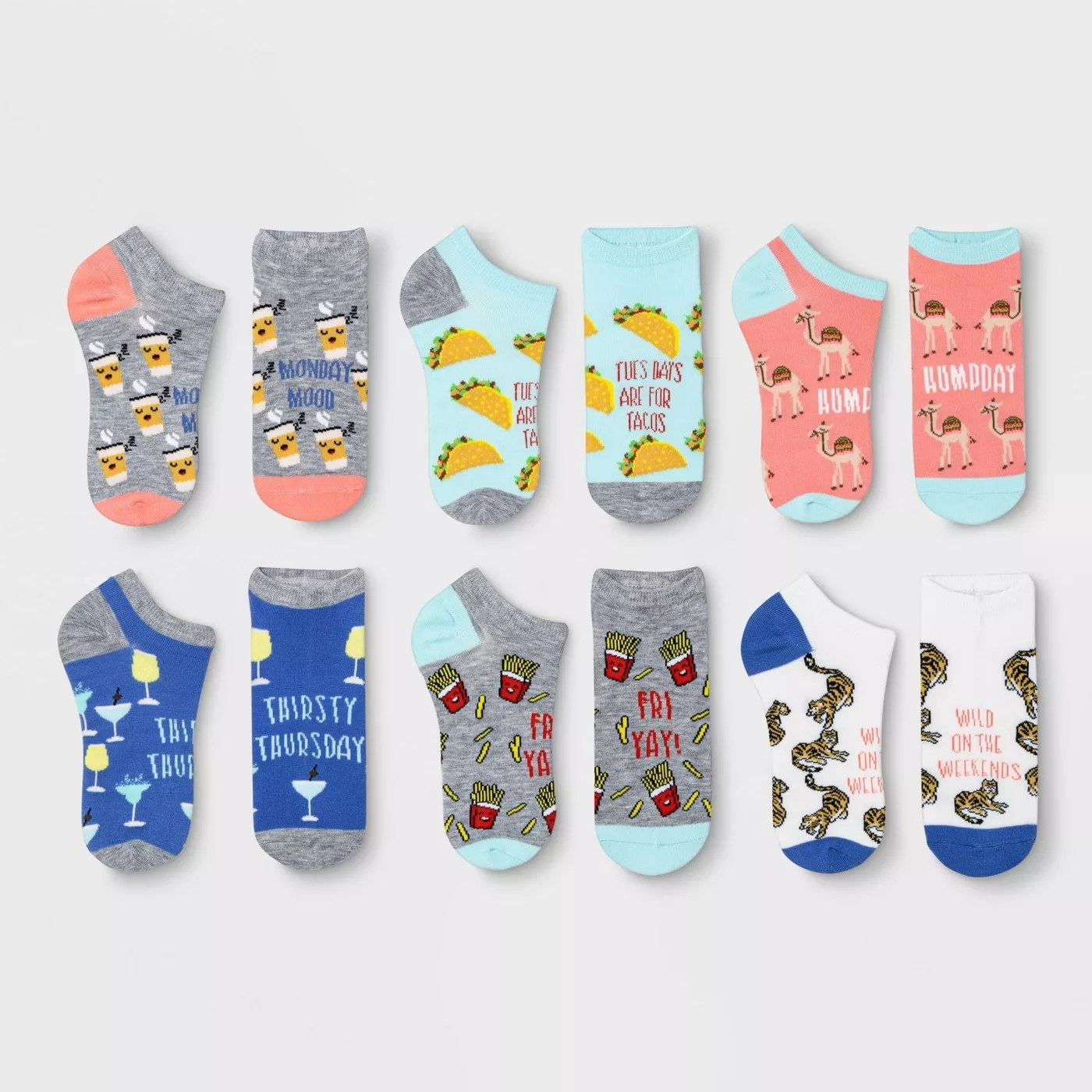 The set of colorful socks