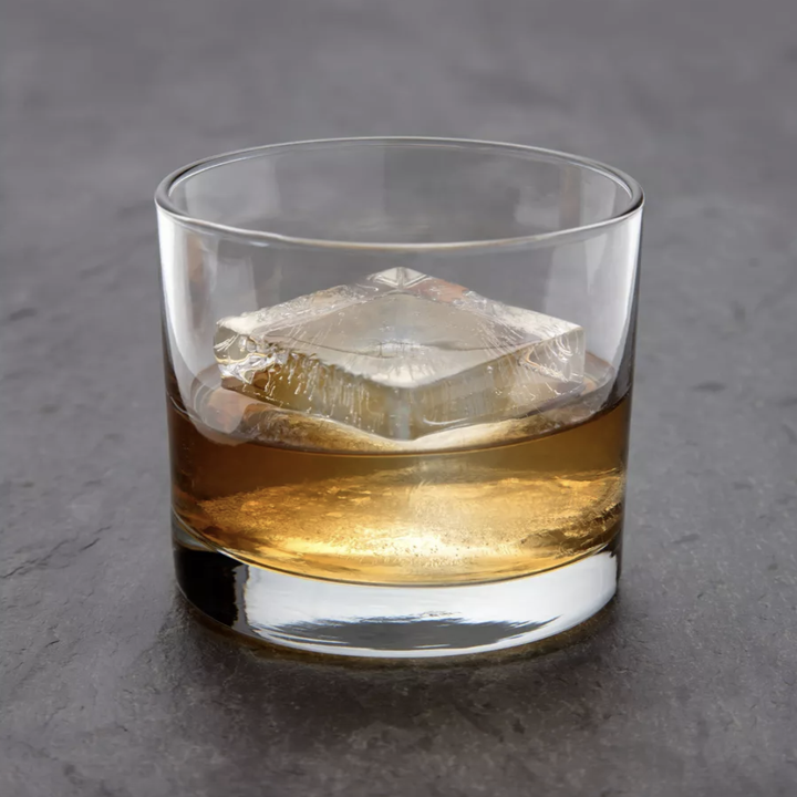 the ice cube in a glass