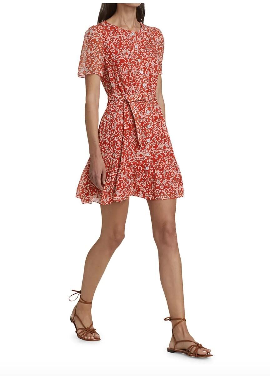 the dress on a model