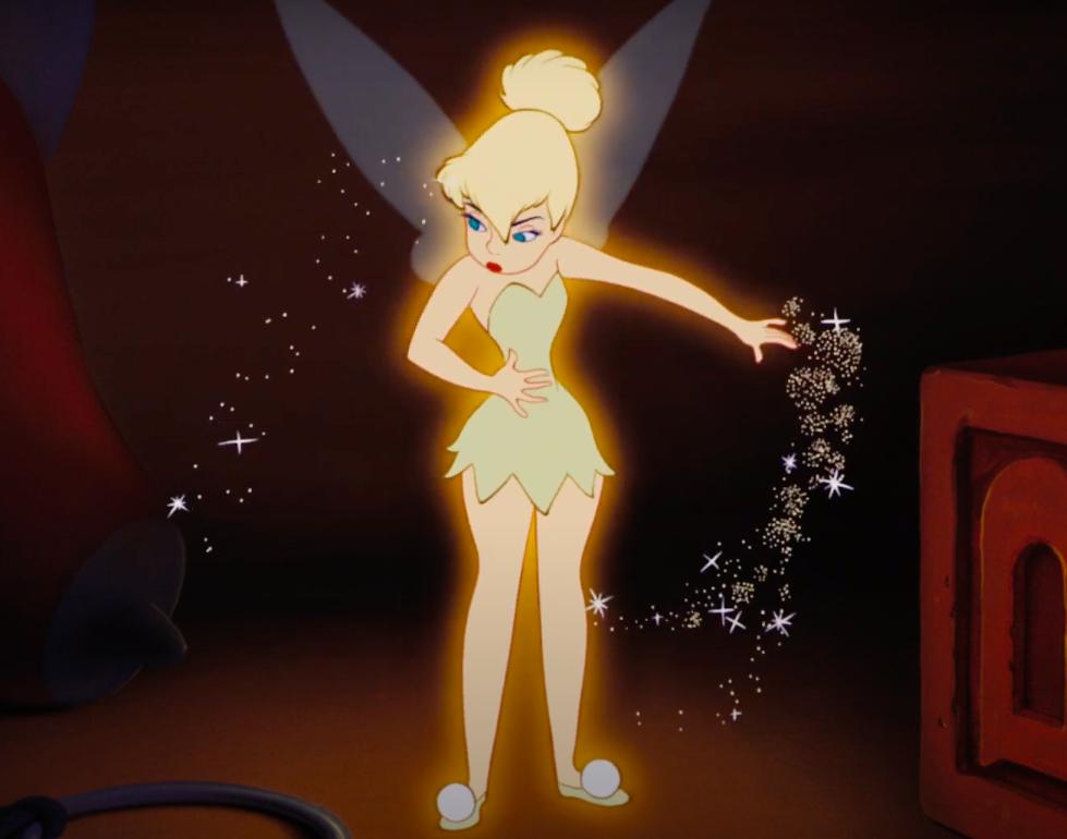 Tinker Bell's mini dress