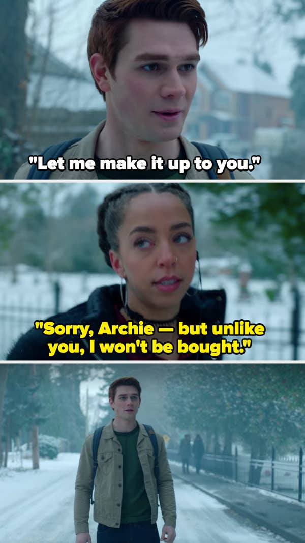 Valarie's ice-cold comeback to Archie