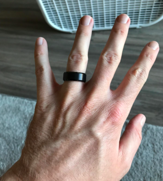 Reviewer wearing the ring in black