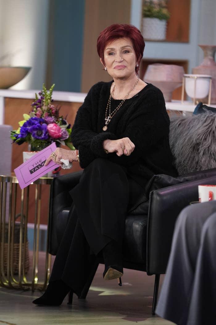 Sharon Osbourne on The Talk in November 2020
