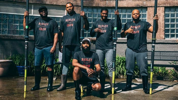 The Manley High rowing team
