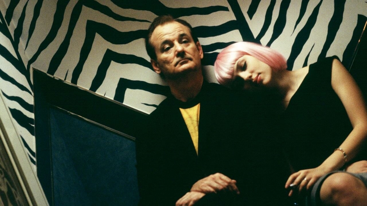 Bill Murray and Scarlett Johansson's characters sitting together