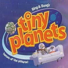 Tiny Planets logo featuring Bing and Bong on their couch
