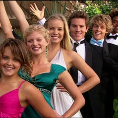 Season 2 cast of Blue Water High at prom