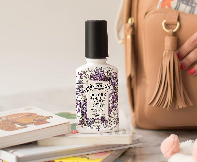 The spray in lavender vanilla scent