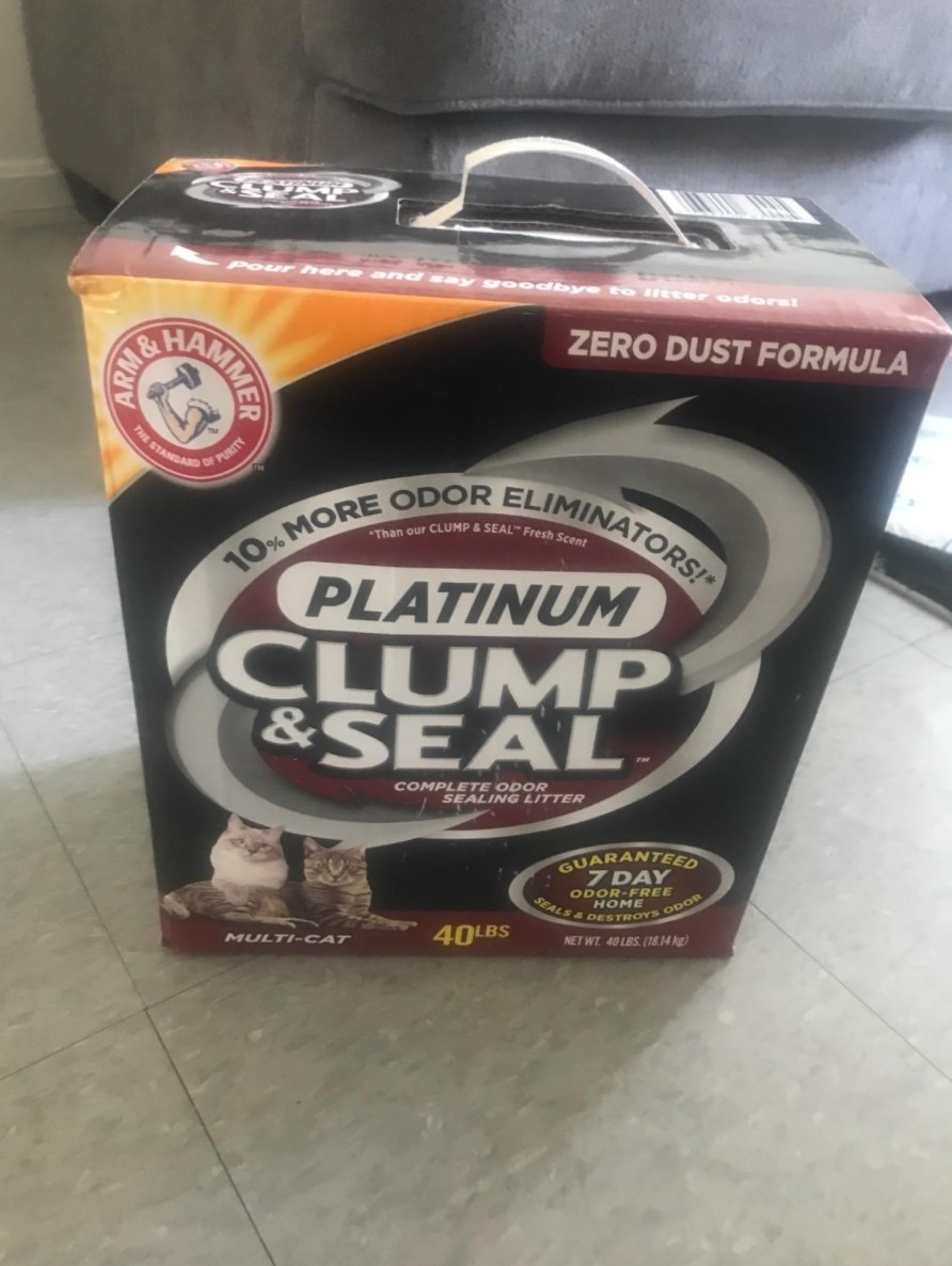 The reviewer's photo of the arm and hammer clump and seal litter