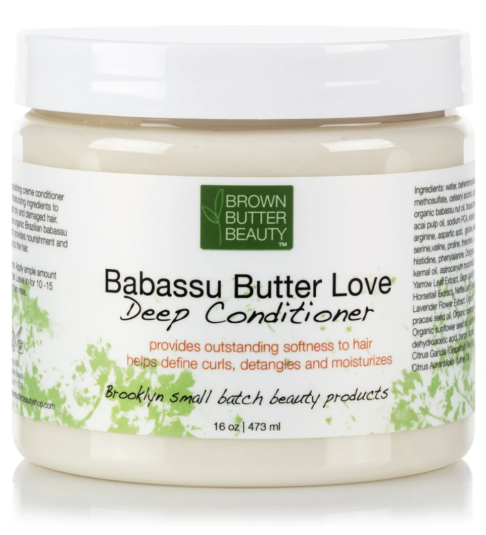 Container of Babassu Butter Love deep conditioner