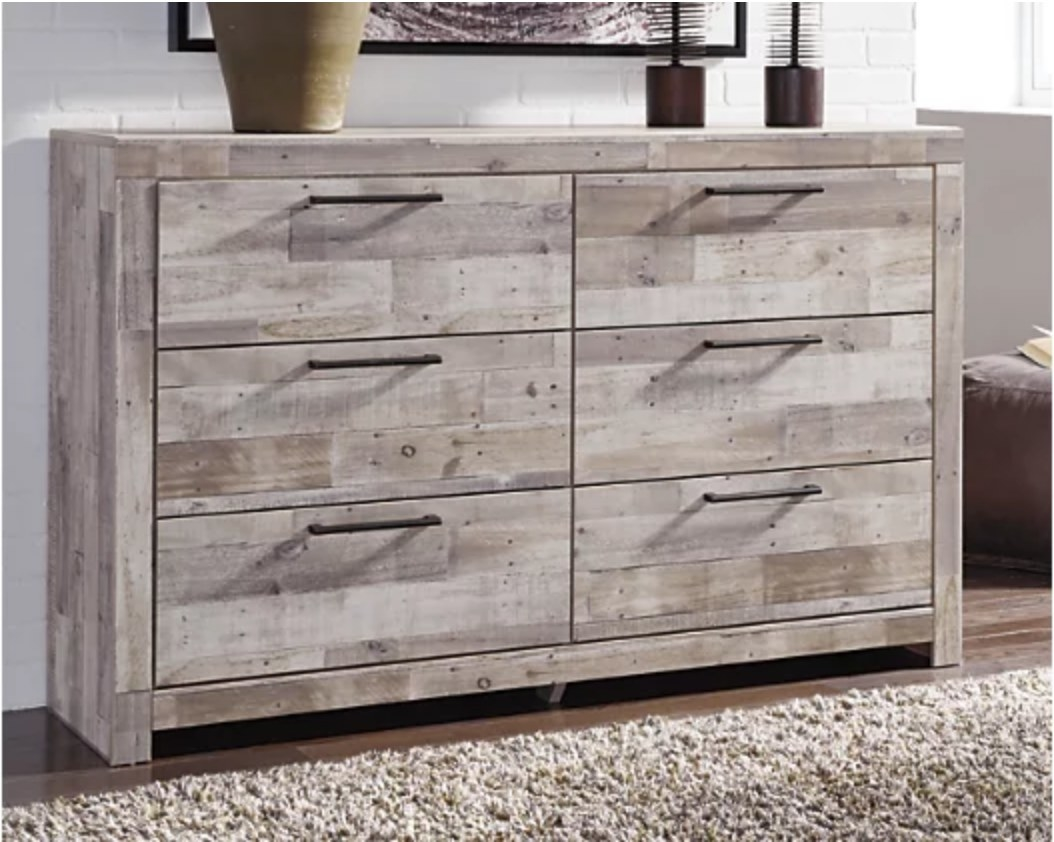 A dresser with 6 drawers
