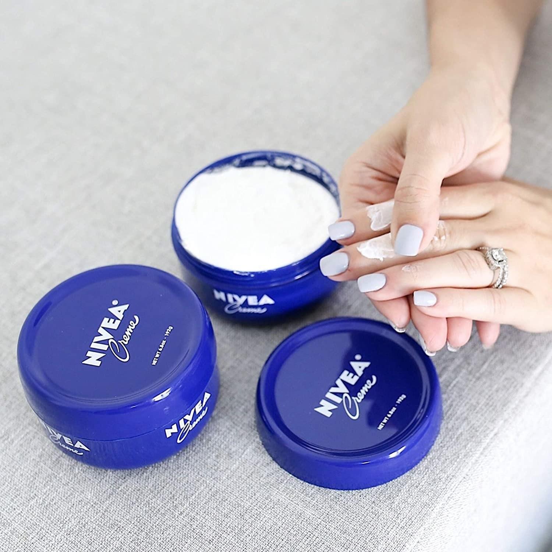 the blue tub of nivea cream
