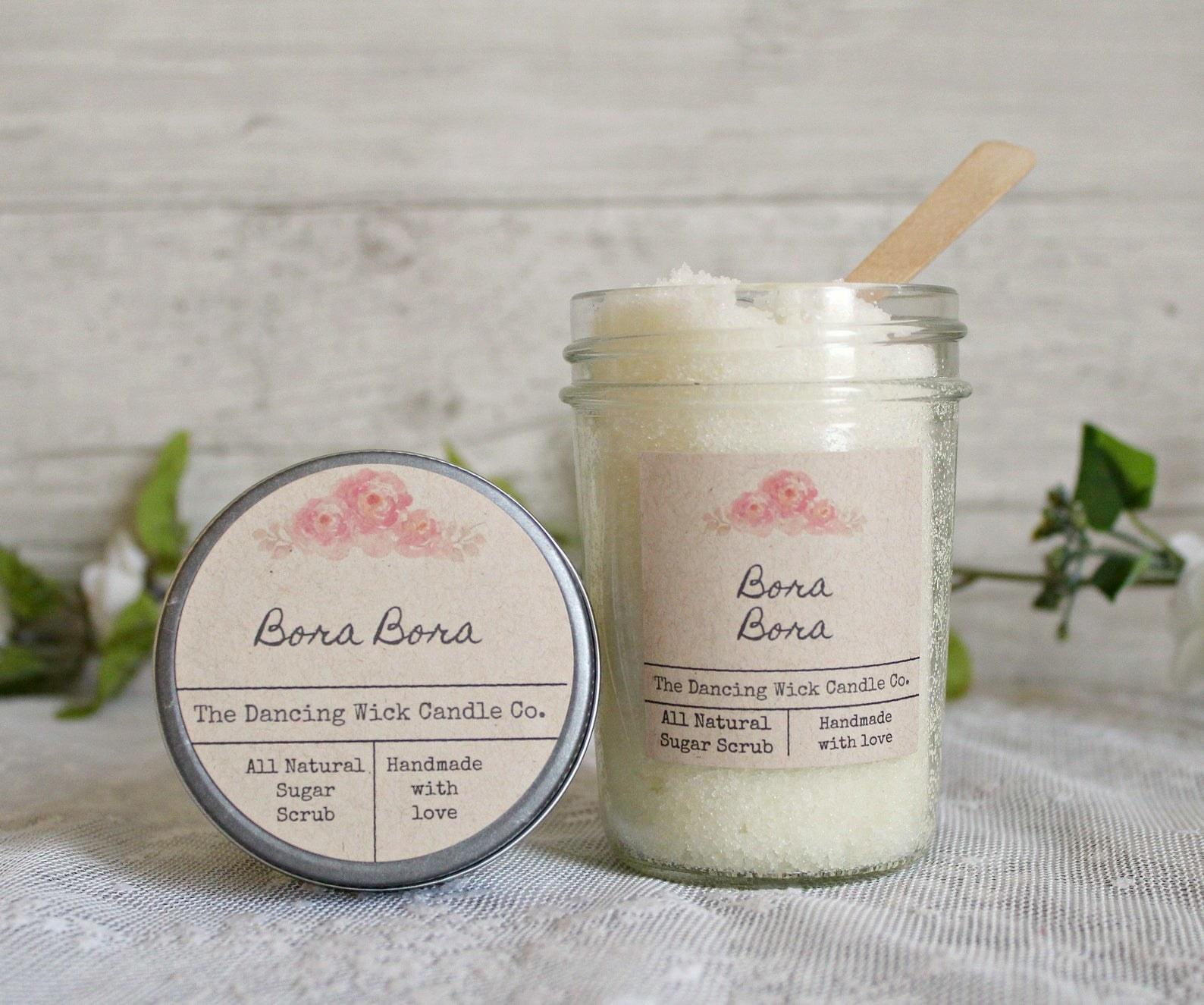 A jar of their Bora Bora scrub