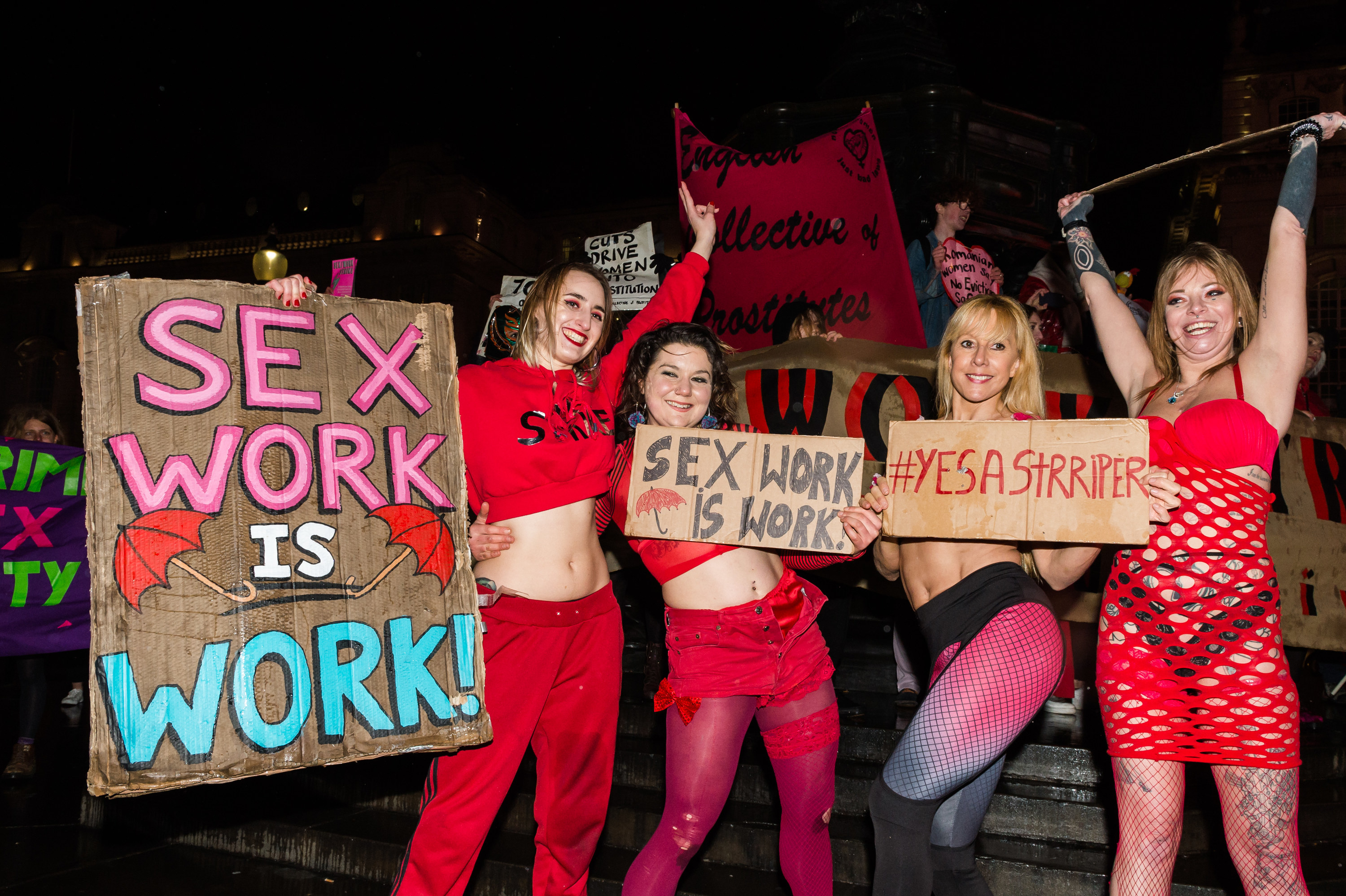 An image of women at a march for sex worker rights