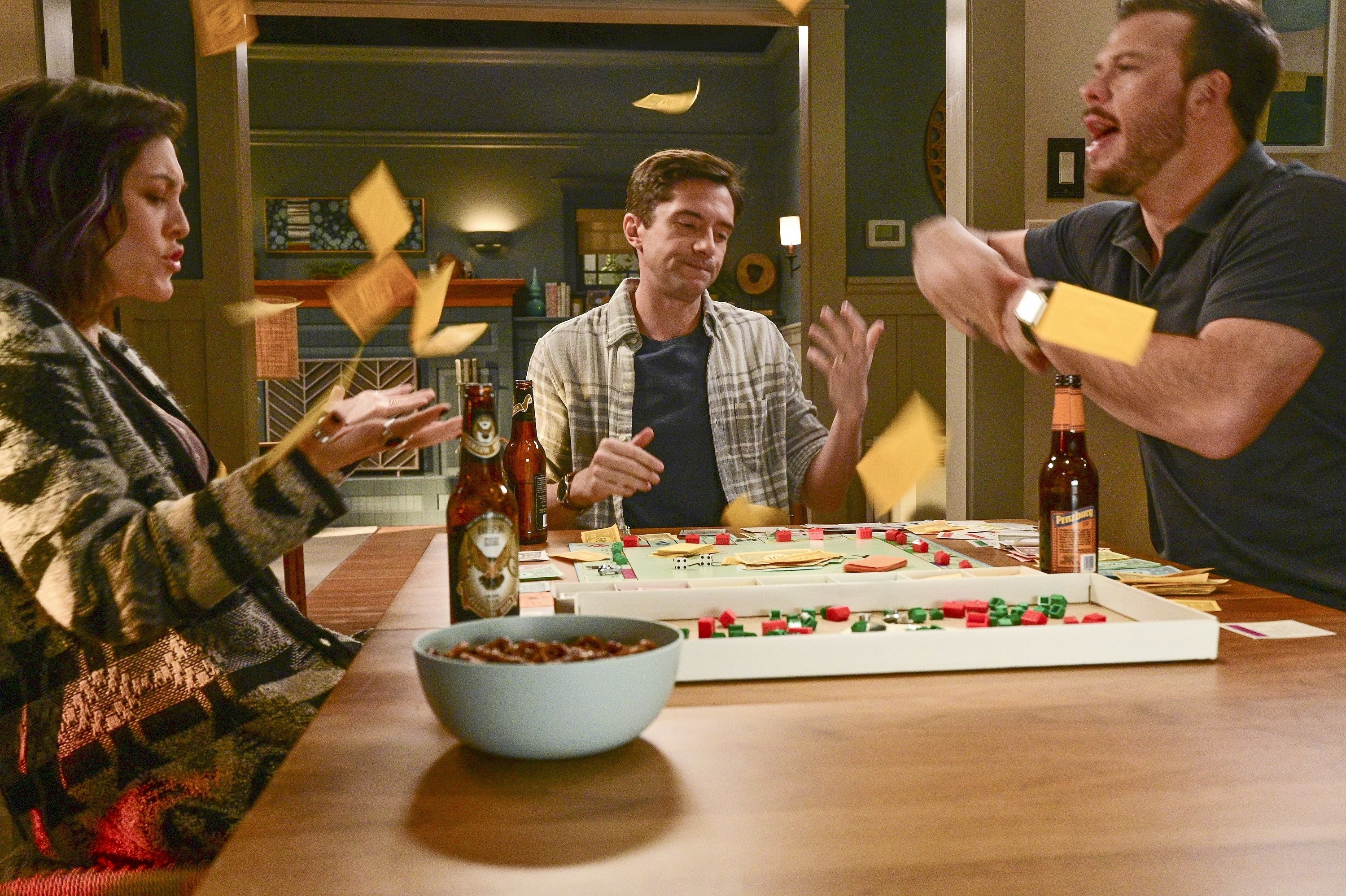 """Topher Grace and the cast of """"Home Economics"""""""