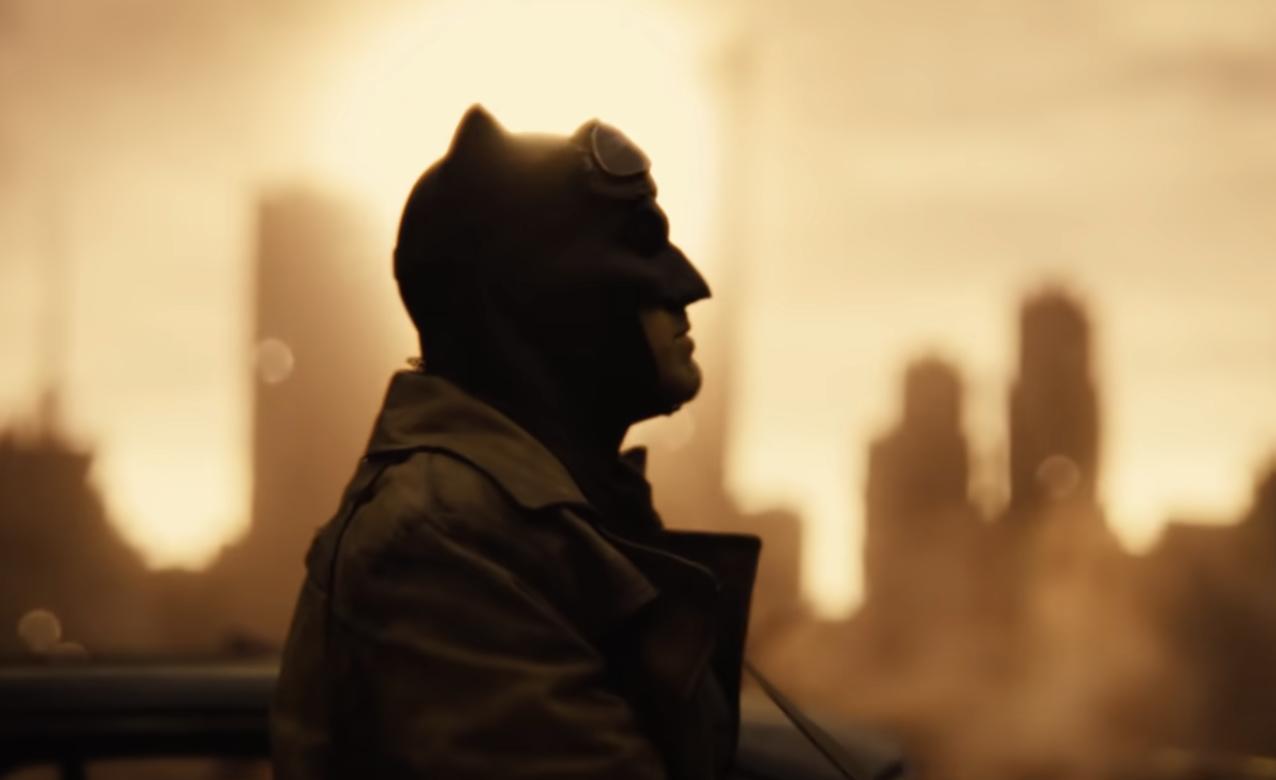 A silhouette of Ben Affleck as Batman