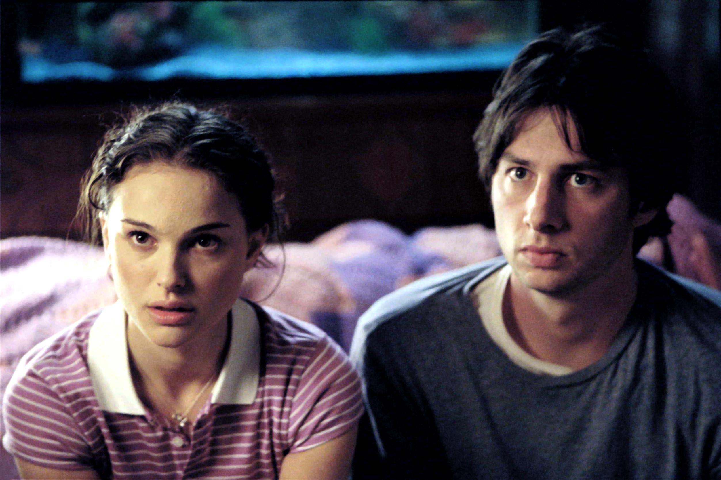 Natalie Portman and Zach Braff in garden state.
