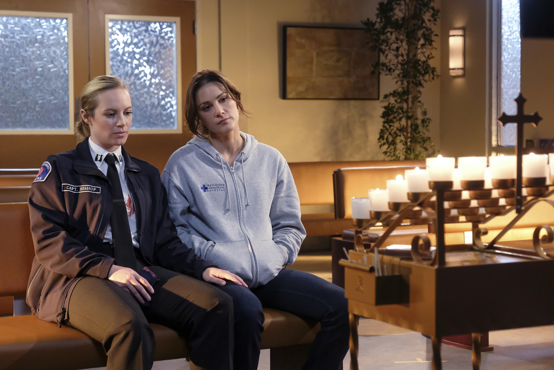 "Danielle Savre and Stefania Spampinato in ""Station 19"""