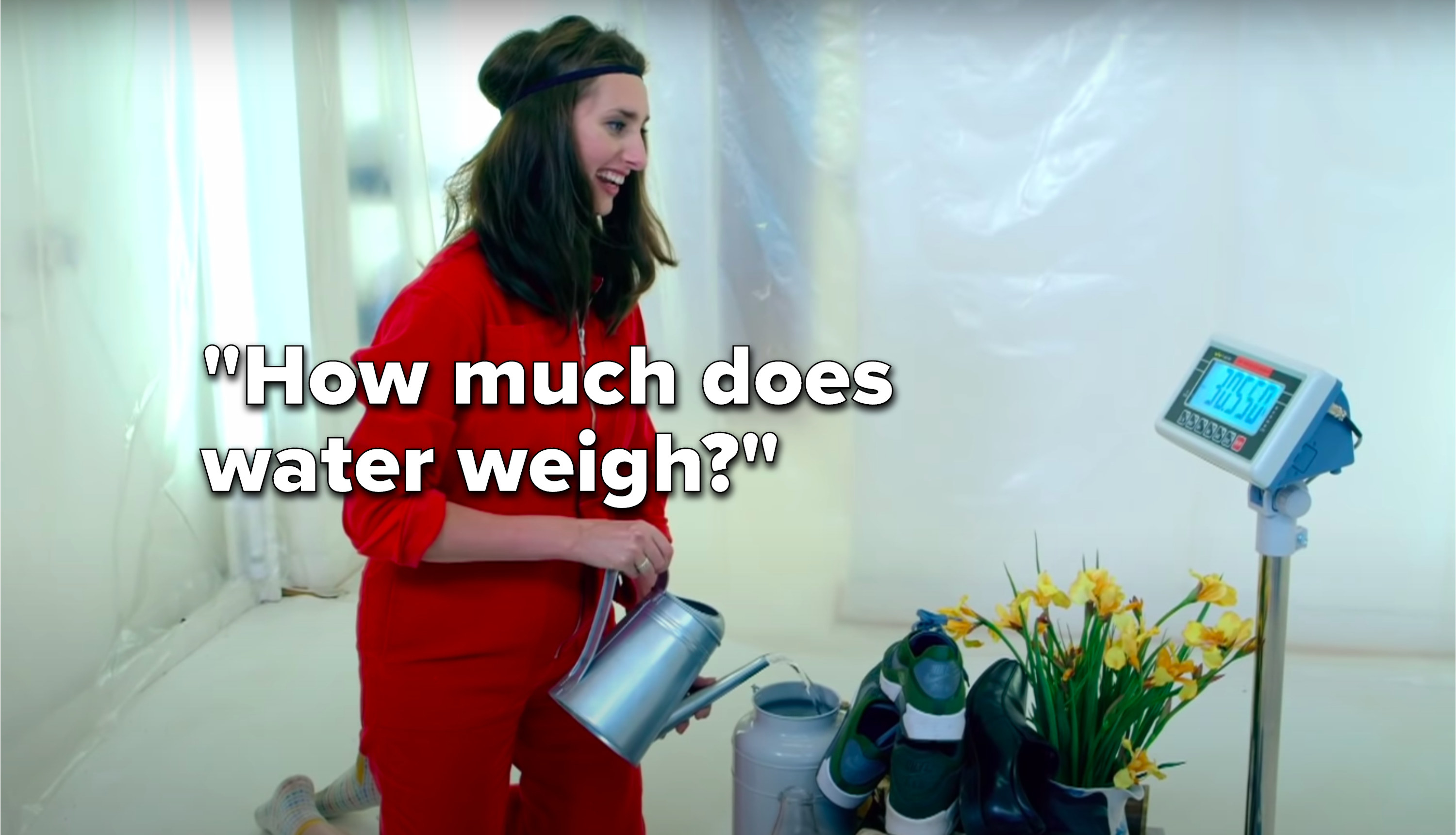 """Jessica Knappett says, """"How much does water weigh"""""""