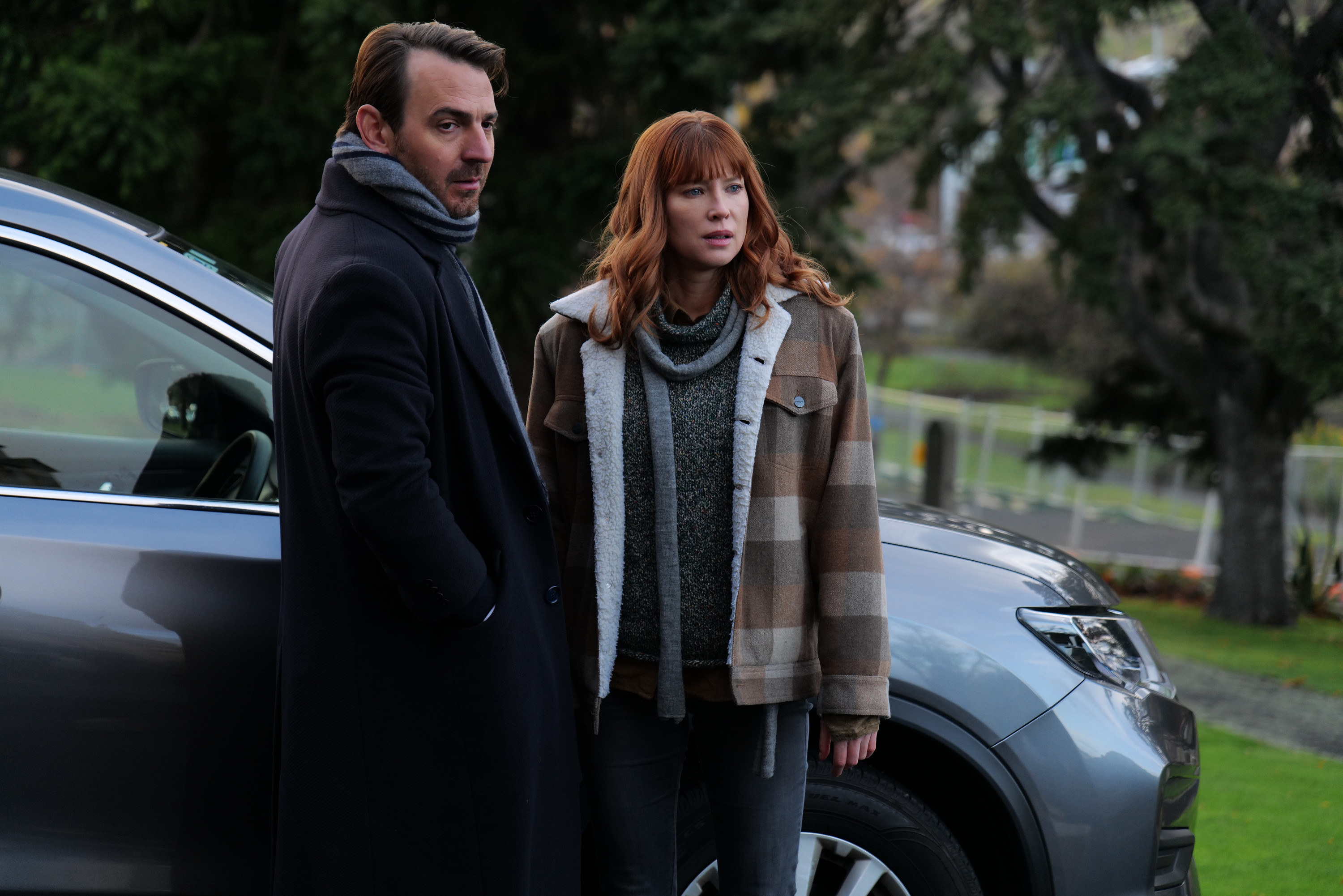 """Emma Booth and Ewen Leslie in """"The Gloaming"""""""