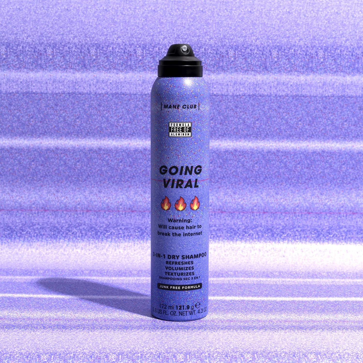 the bottle of dry shampoo