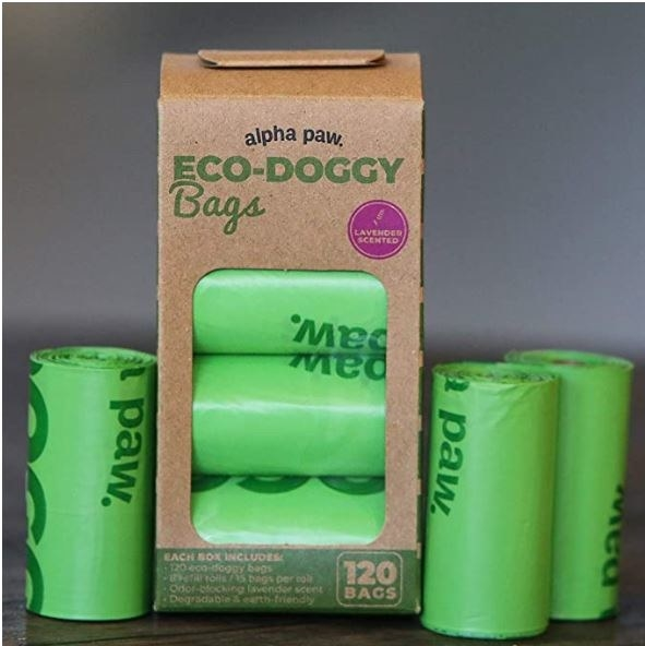 These lightly scented doggie bags are also biodegradable.