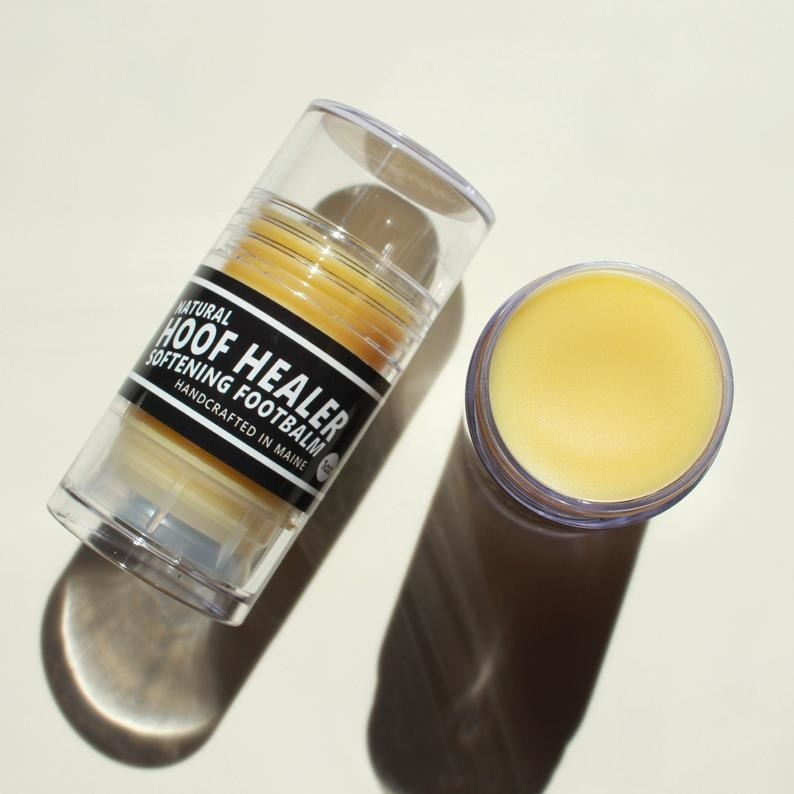 Large twisting bottle with solid balm inside