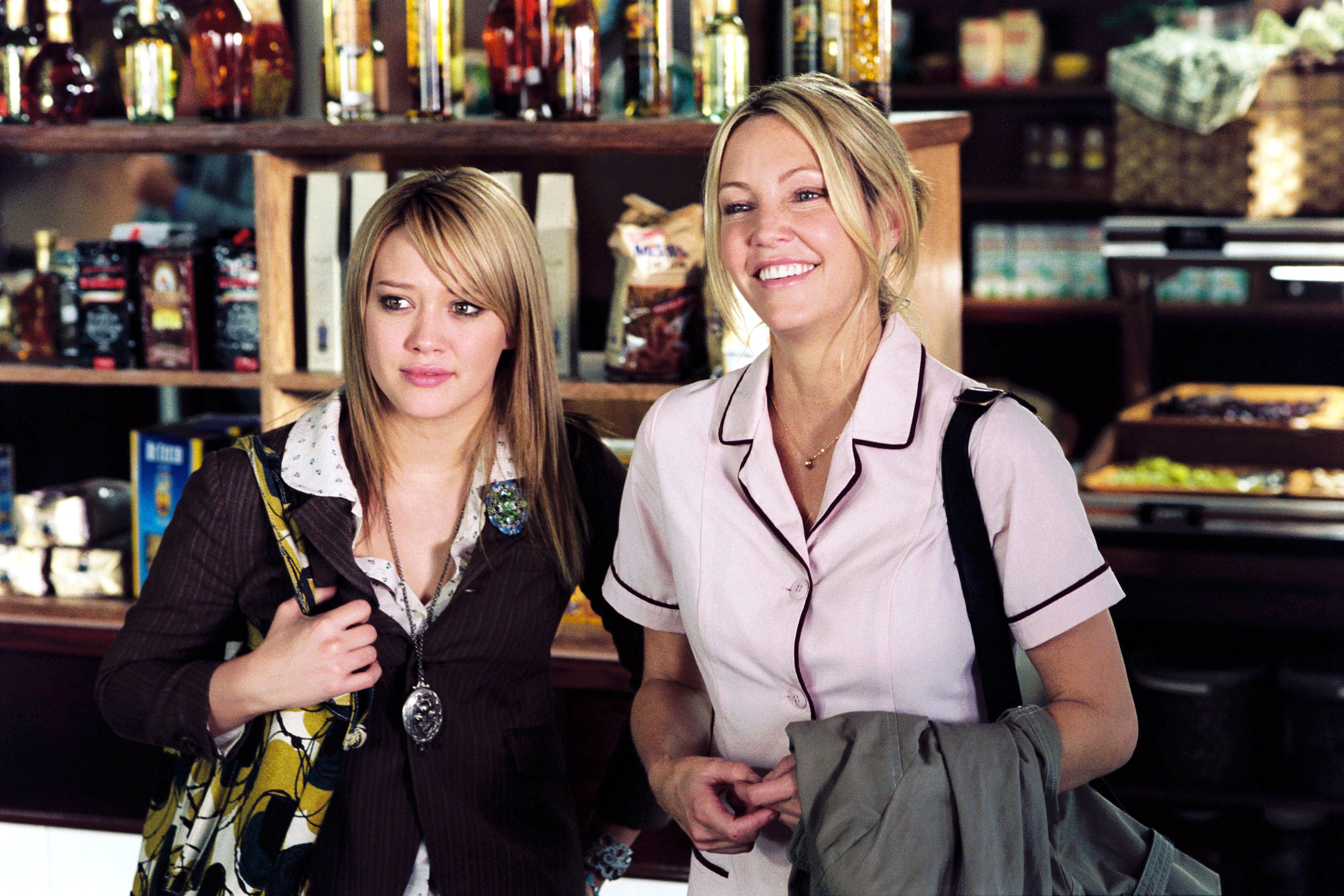 Hilary Duff and Heather Locklear in the movie the perfect man