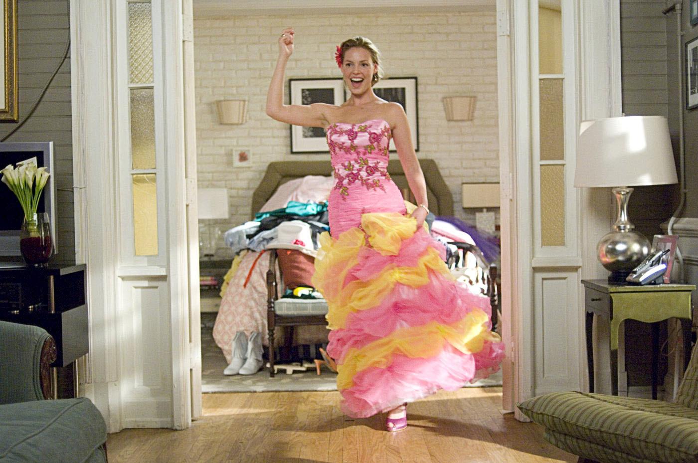 Katherine Heigl in the movie 27 dresses