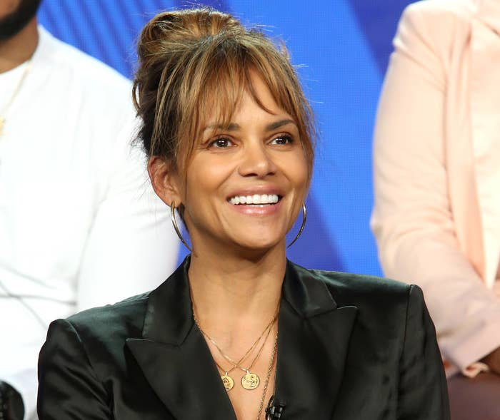Halle smiles during an event
