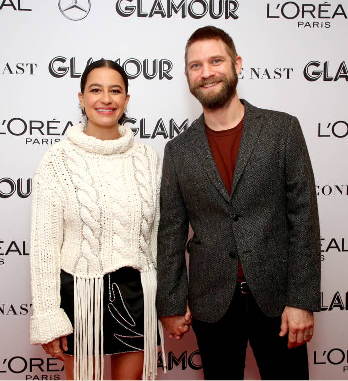 Ilana Glazer and David Rooklin at the 2019 Glamour Women of the Year Summit in New York City