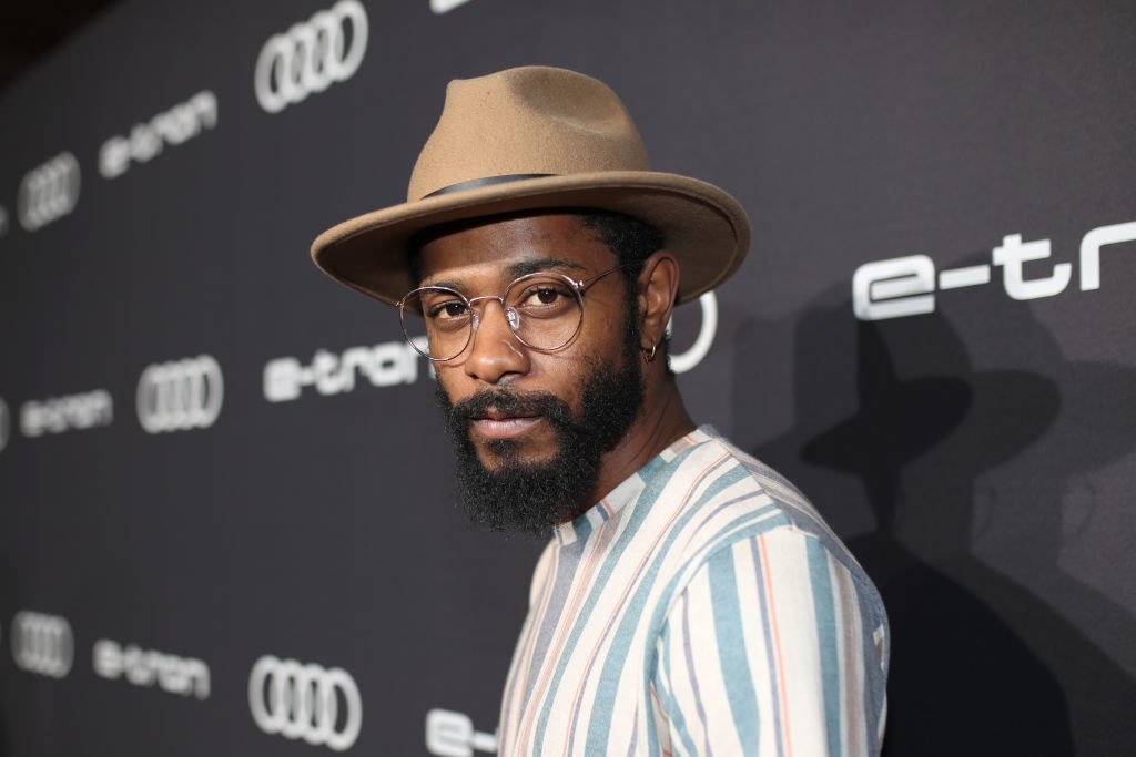 Lakeith Stanfield attends the Audi pre-Emmy celebration at Sunset Tower in a fedora