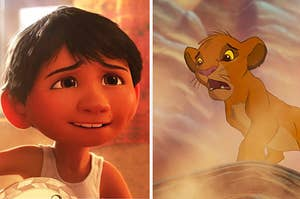 Miguel from Coco and Simba from The Lion King