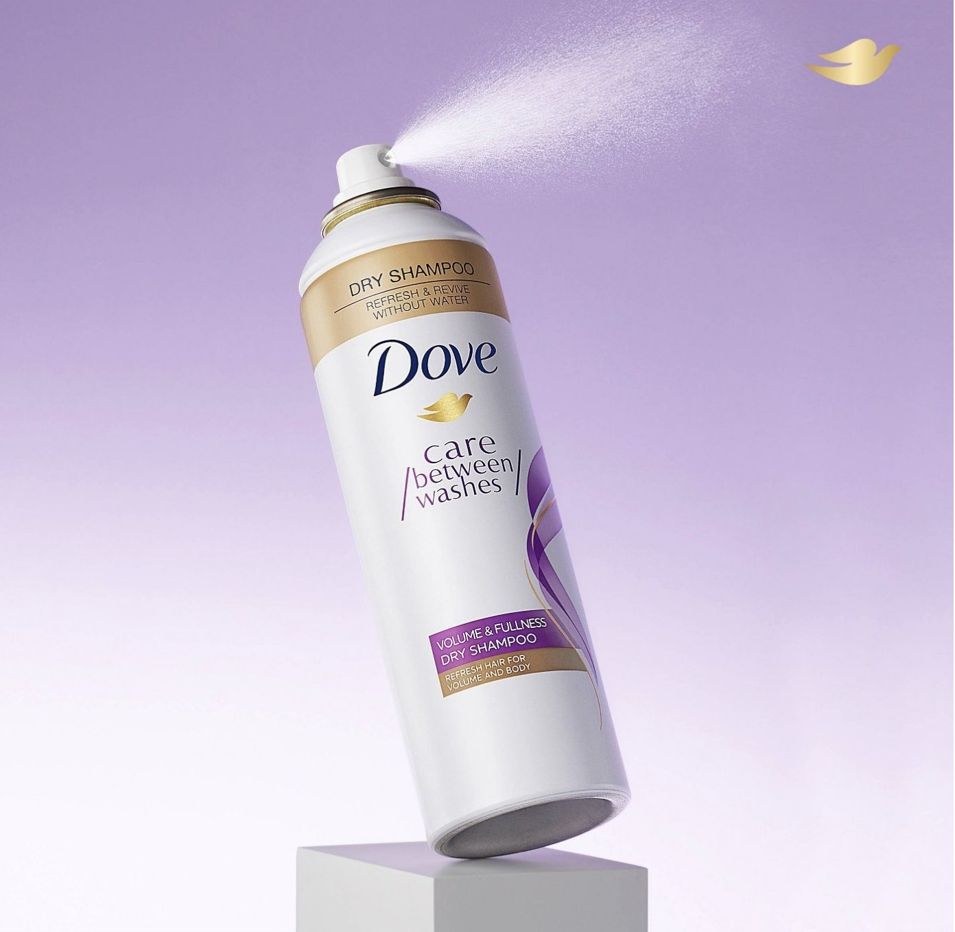 A can of dry shampoo