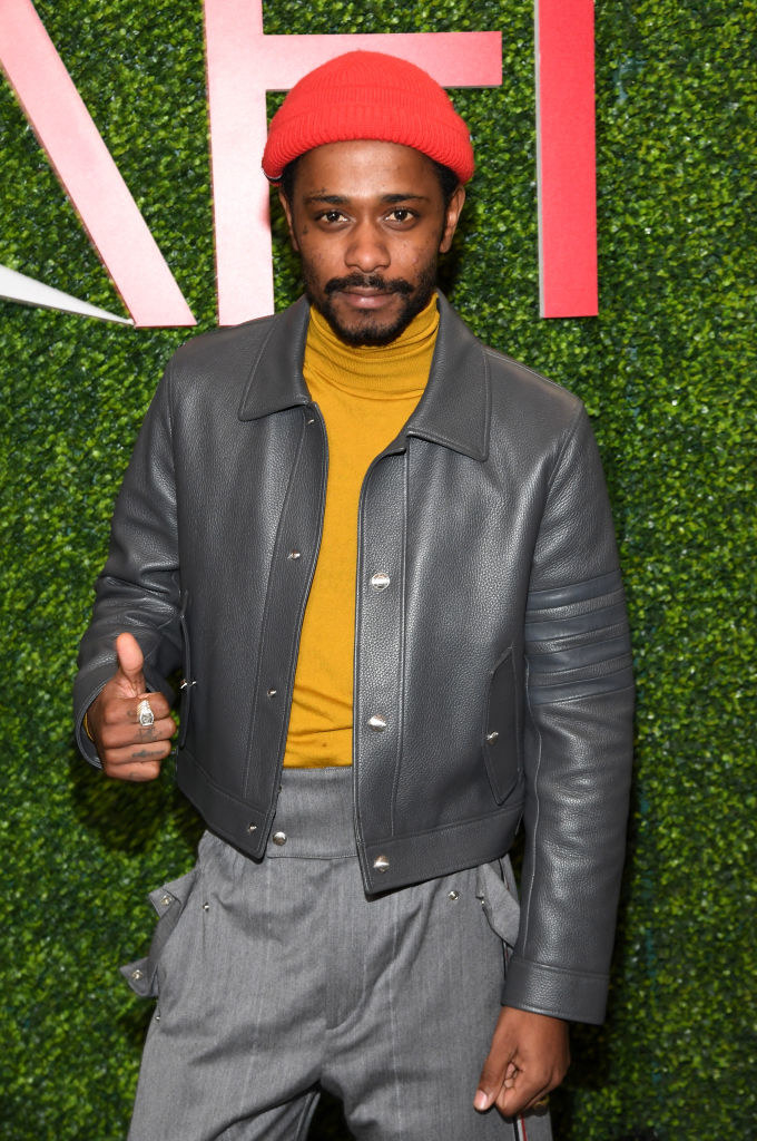 Lakeith Stanfield gives a thumbs up at the 19th Annual AFI Awards at Four Seasons Hotel Los Angeles