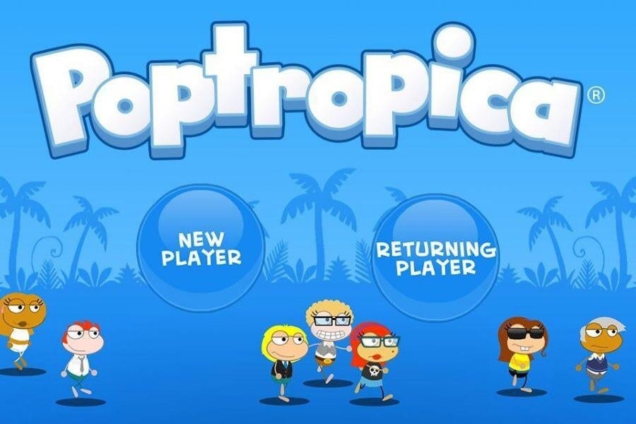 Website homepage with a group of the game's quirky characters