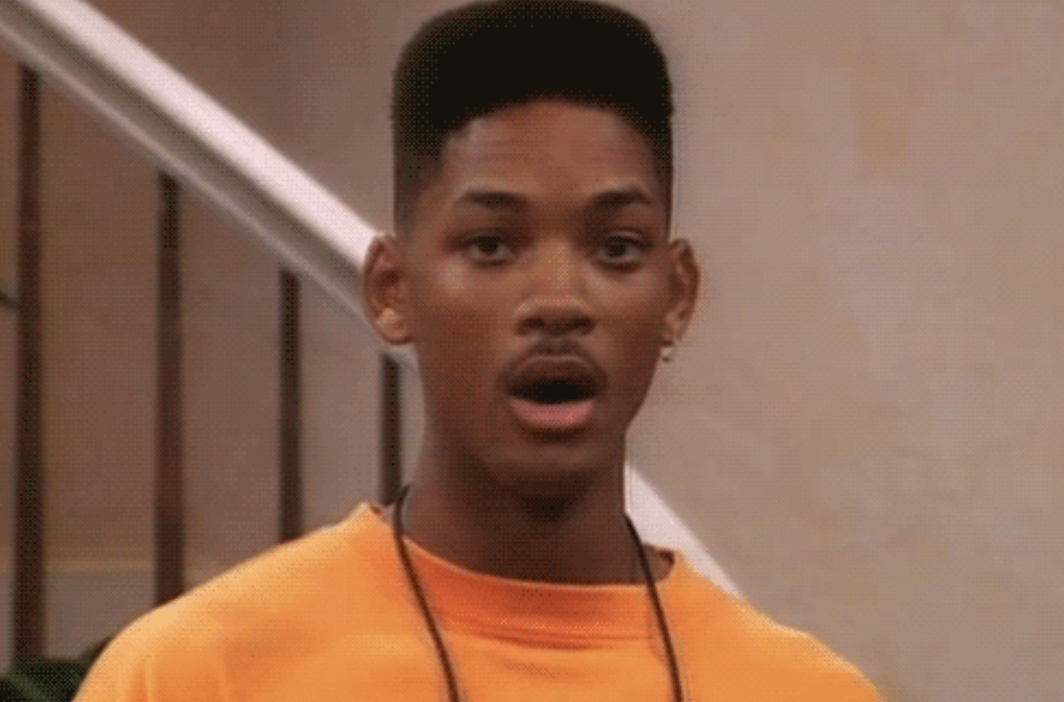 Will Smith looking shocked
