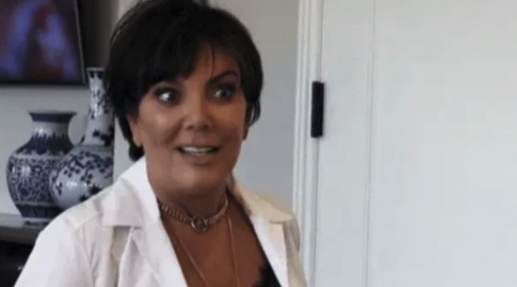 Kris Jenner looking intrigued