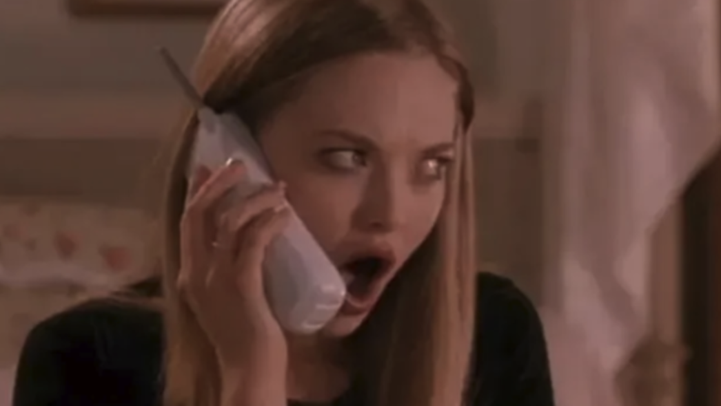 "Karen looking shocked in ""Mean Girls"""