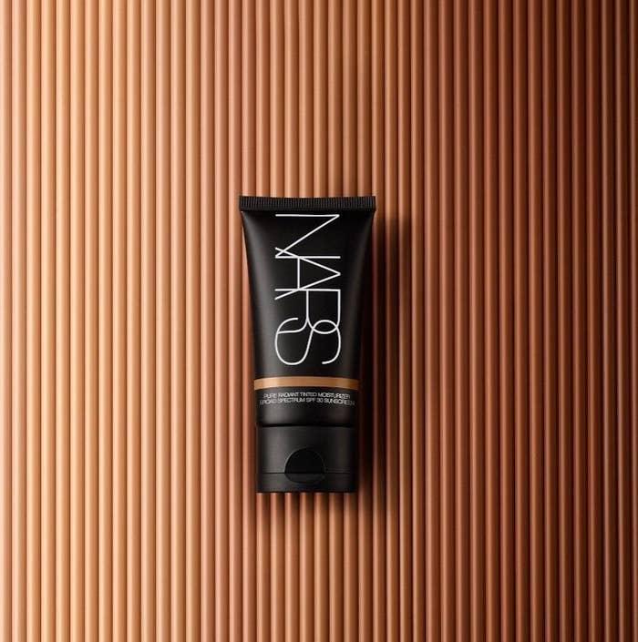 A bottle of nars tinted moisturizer