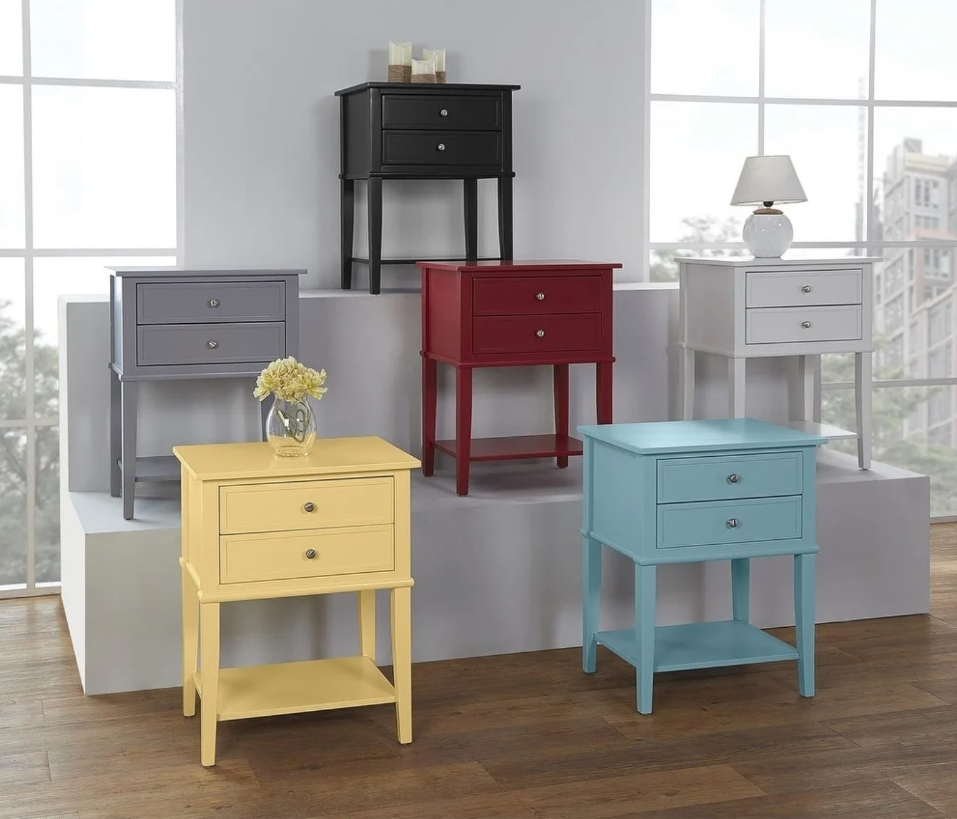 The accent tables in six colors
