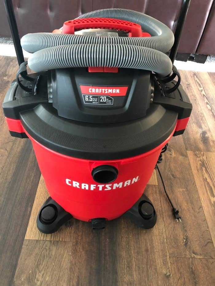 A red craftsman shop vac