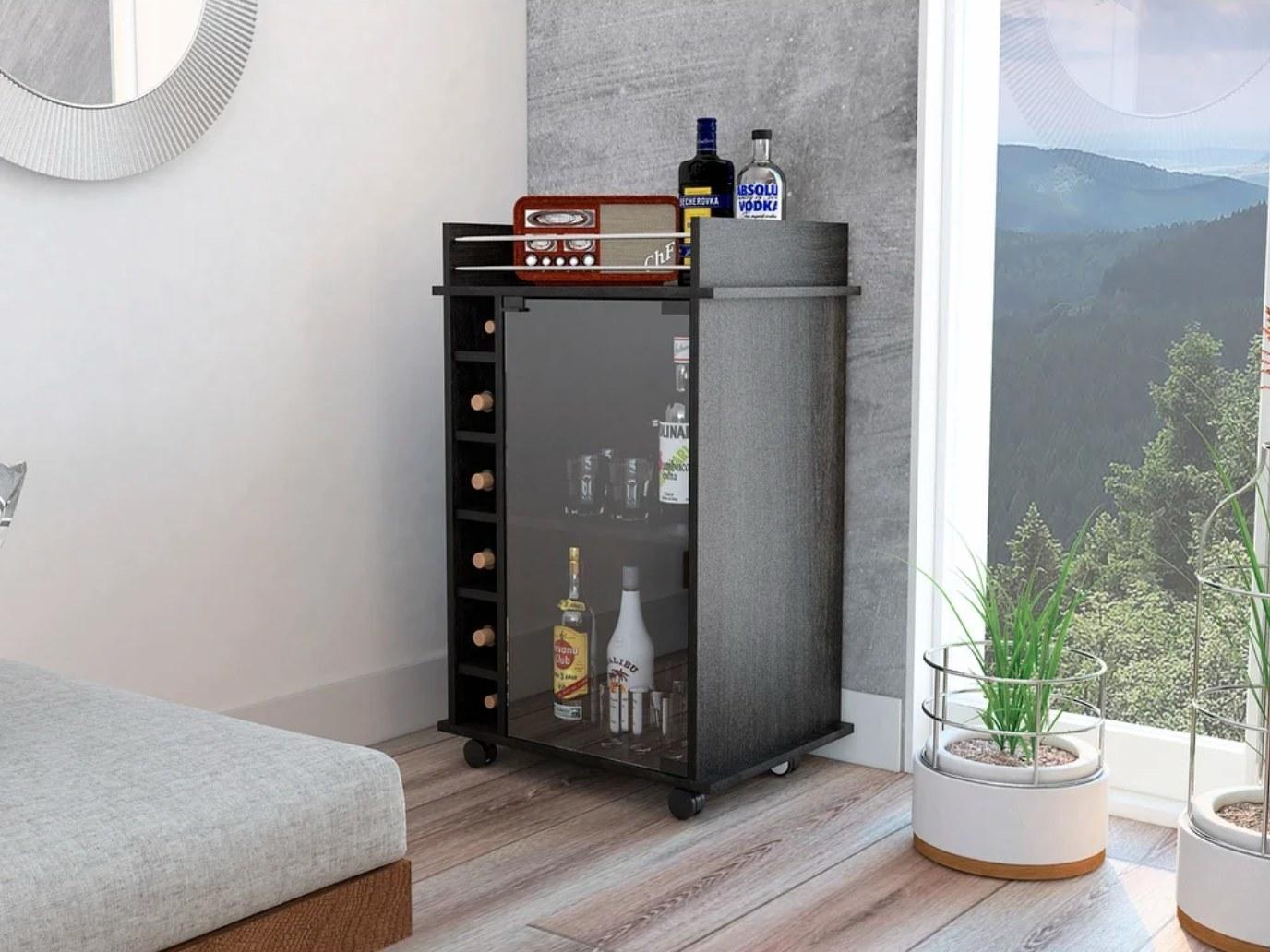 The bar cart in espresso