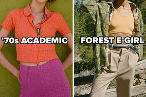 '70s academic and forest e girl aesthetics