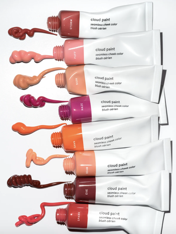 the tubes with swatches