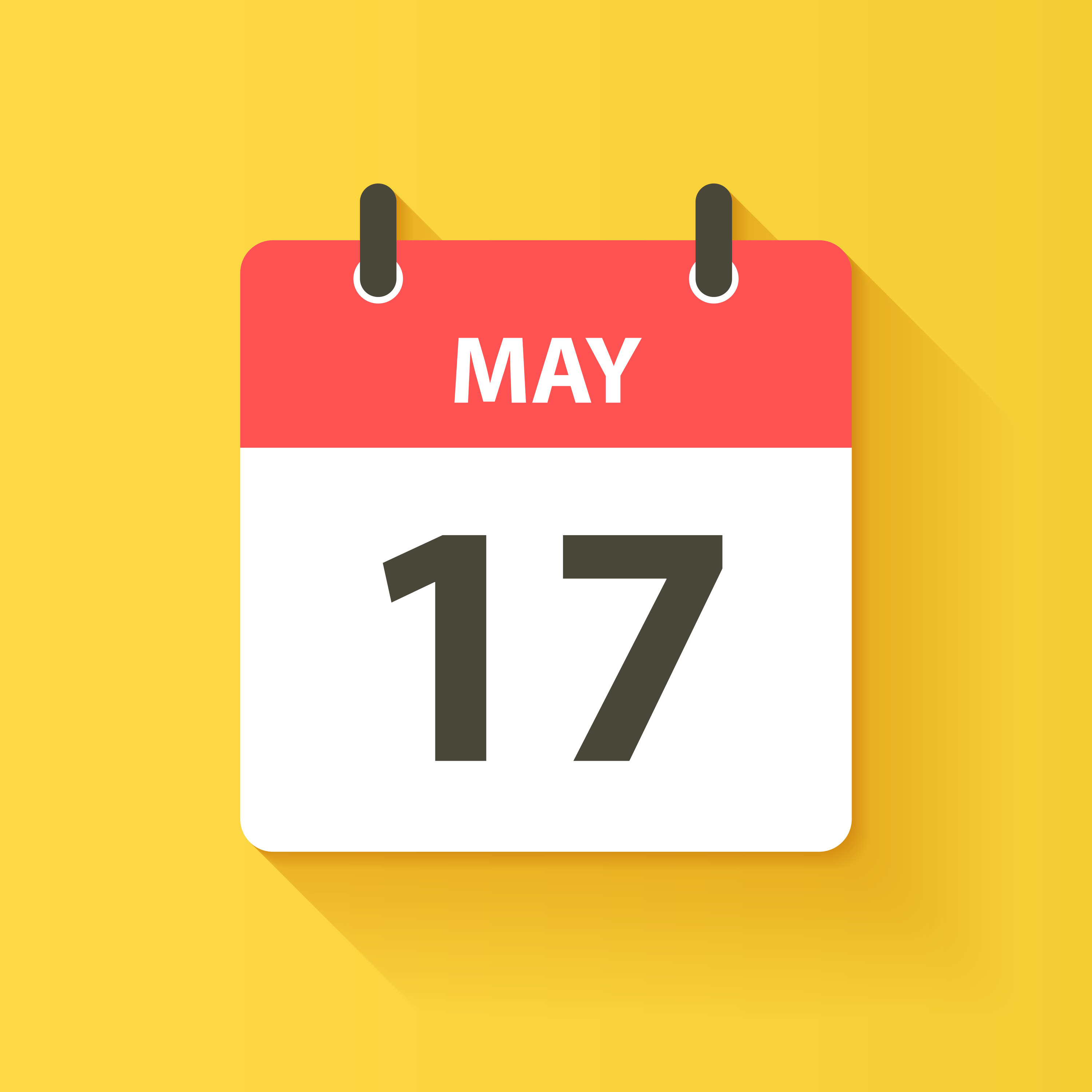 Calendar page showing May 17