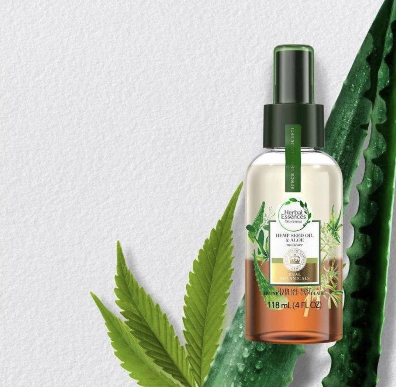 A bottle of hair mist oil