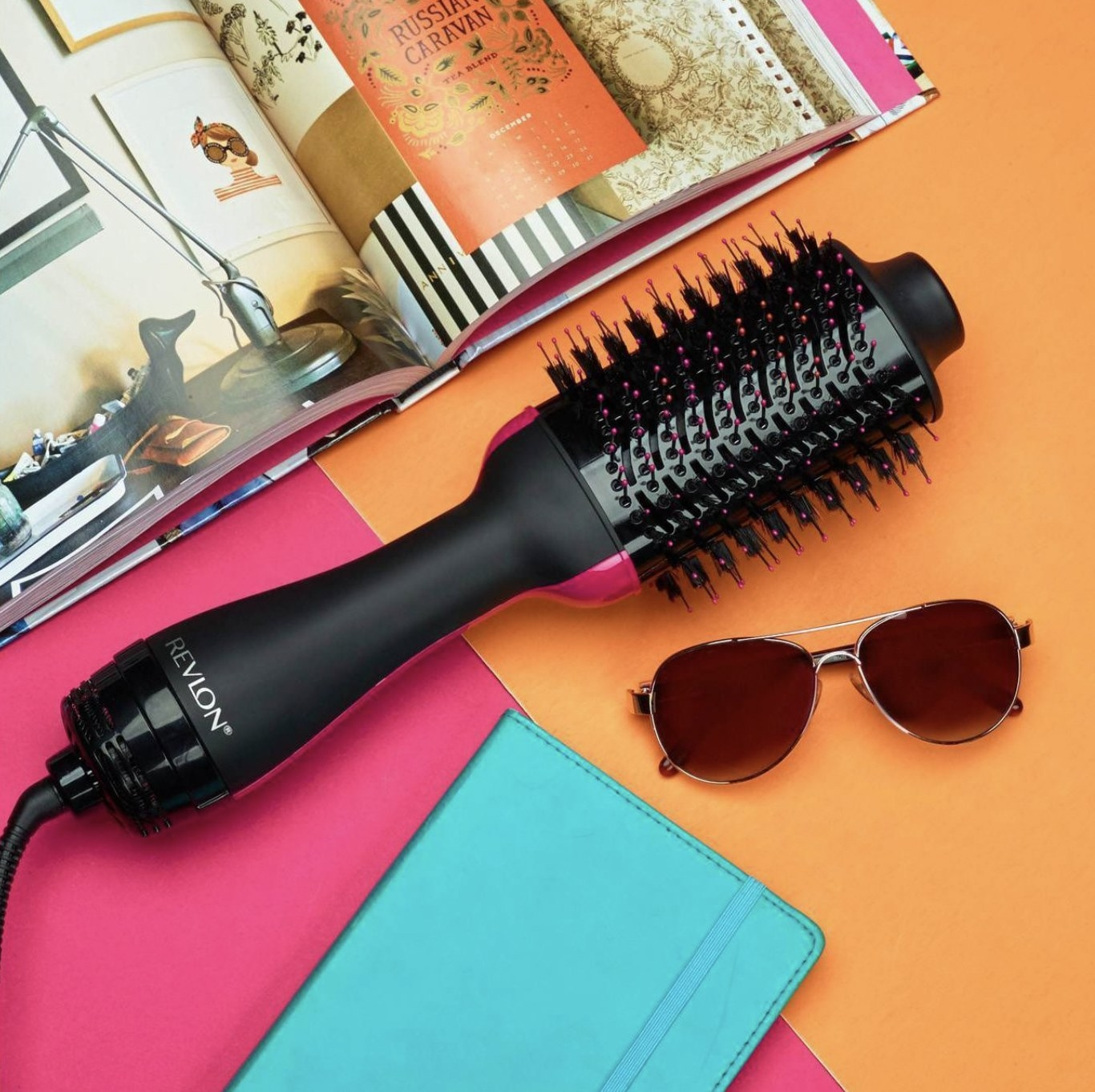 A two-in-one heat-styling product