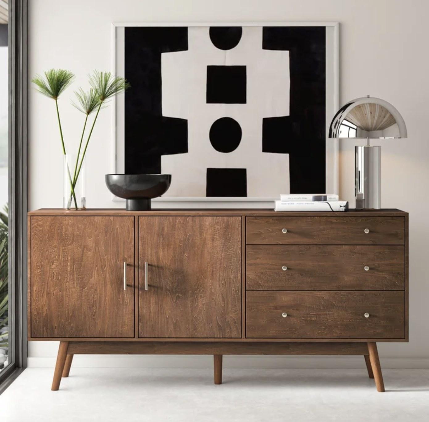 the decor piece in walnut